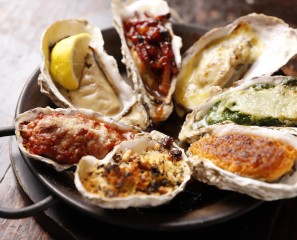 Baked oyster sampler (one of each)