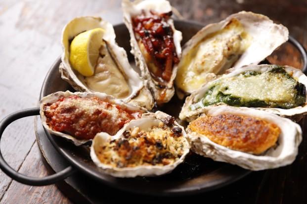 焼き牡蠣サンプラープレート 全ての焼き牡蠣の盛り合わせ(7P)