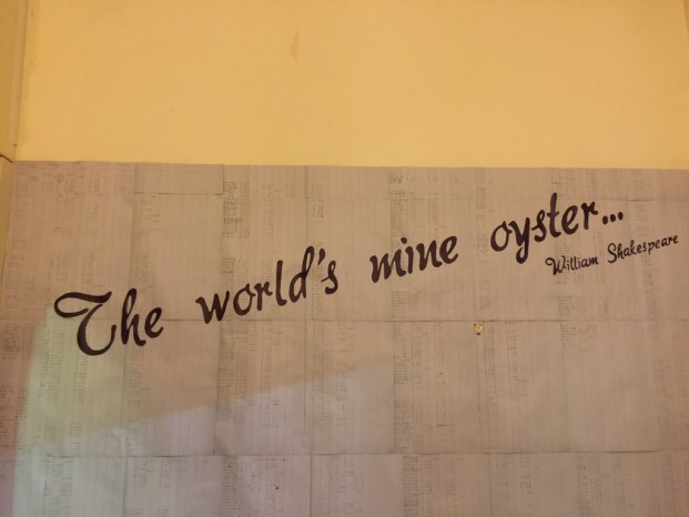The world's mine oyster の話