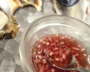 生牡蠣についてくるビネガーの話